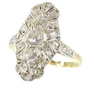Genuine Vintage Art Deco diamond engagement ring