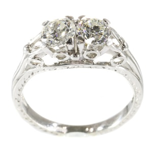 Platinum vintage Art Deco diamond ring