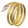 Late Victorian French gold and platinum snake bracelet with diamonds and rubies