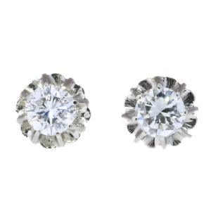 Vintage Art Deco diamond earstuds