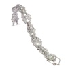 Vintage platinum diamond bracelet Art Deco style made in the Fifties