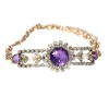 Antique gold bracelet with amethyst diamonds and pearls