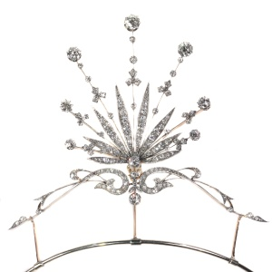 Belle Epoque diamond tiara also pendant, necklace or brooch