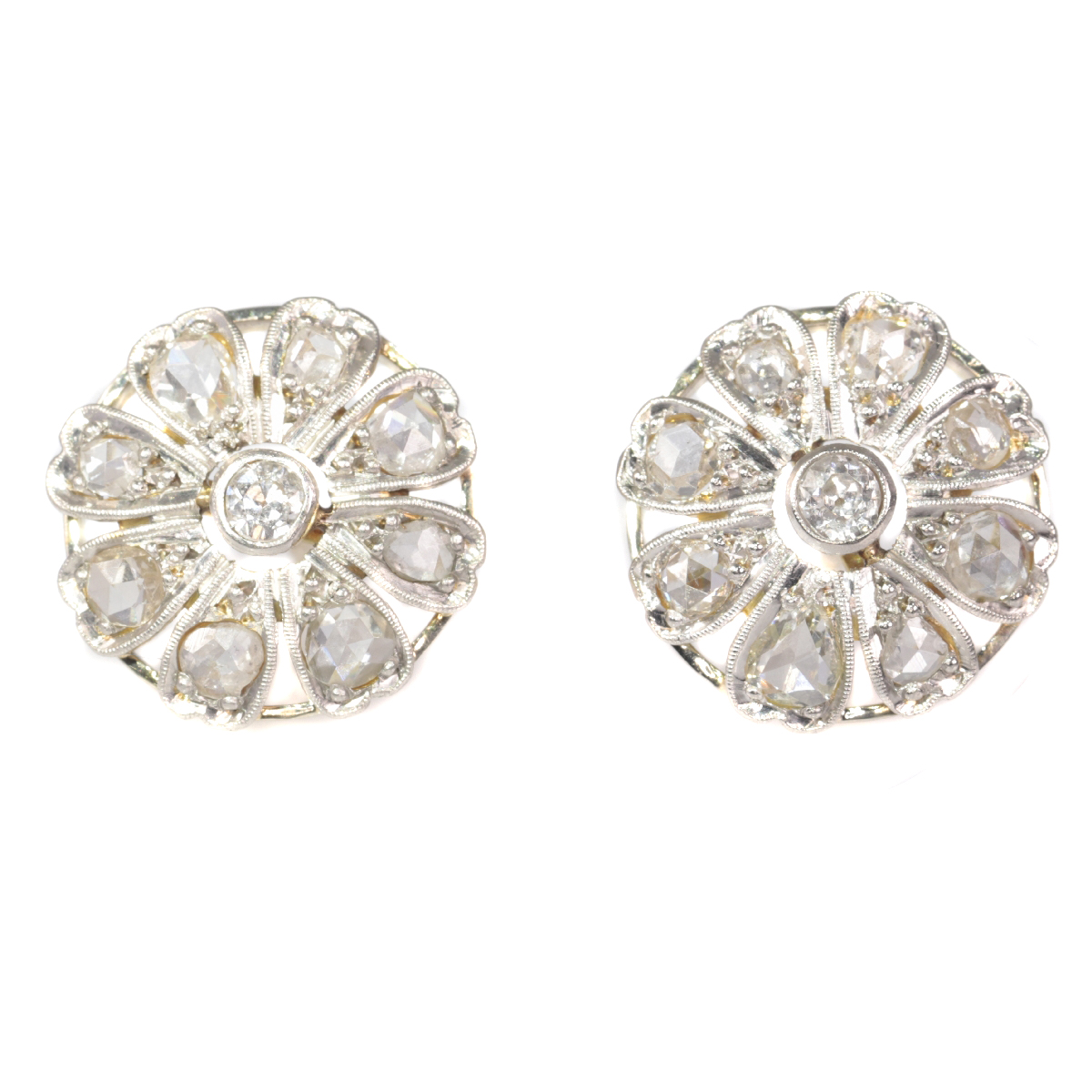 Belle Epoque / Art Deco diamond earstuds