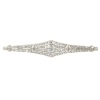 Vintage platinum Art Deco diamond bar brooch with 71 diamonds
