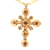 18th Century antique gold cross with table cut rose cut diamonds