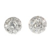 Vintage 1950 s platinum diamond earstuds in Art Deco style