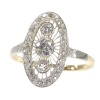 Vintage Art Deco Edwardian diamond engagement ring