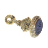 Victorian gold seal with 150 rose cut diamonds 31 emeralds and one lapis lazuli