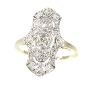 Original Vintage Belle Epoque diamond engagement ring