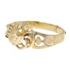 Antique gold bangle with large tulip motive