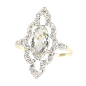 Most charming Belle Epoque diamond engagement ring