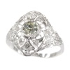 Estate Edwardian Art Deco platinum diamond engagement ring