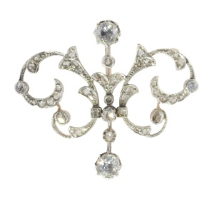 Victorian diamond double purpose jewel can be worn as pendant or brooch