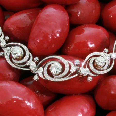Belle Epoque bracelet diamant souple par Emile Olive