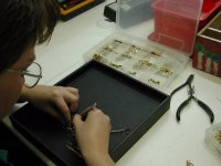First working stage of the restoration of the antique necklace