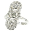 Art Deco engagement ring platinum and diamonds