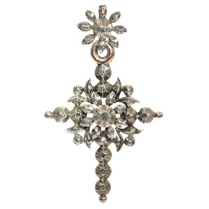 Victorian Flemish cross with rose cut diamonds