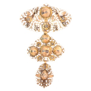 Early 19th century gold diamond pendant called a la jeanette