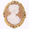 High quality Victorian antique shell cameo mounted in gold brooch