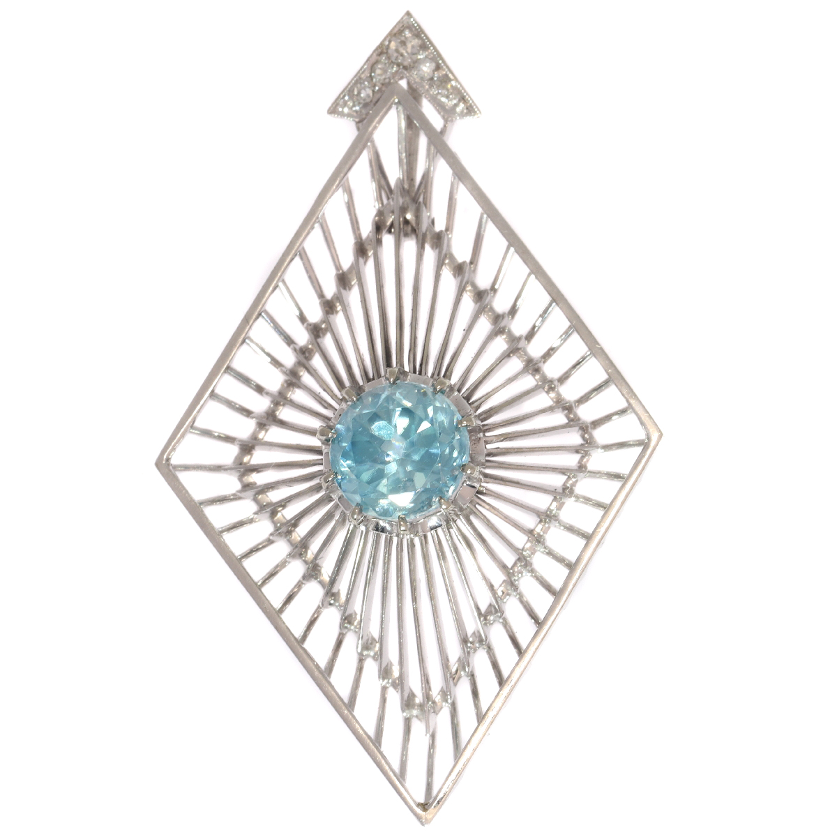 Artist Jewelry by Chris Steenbergen white gold pendant with diamond and starlite