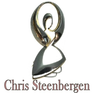 Artist Jewelry by Chris Steenbergen gold and silver brooch the rope jumper