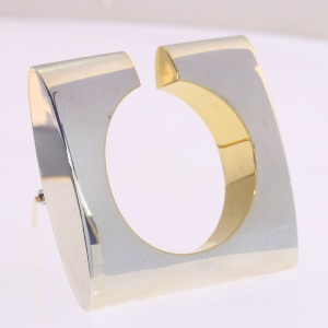 Artist Jewelry by Chris Steenbergen silver and gold brooche