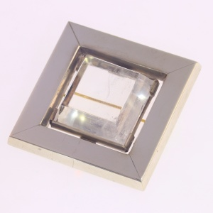 Artist Jewelry Chris Steenbergen silver brooch with rock crystal quartz