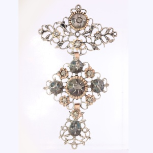 Mid 19th Century diamond cross Jeannette pendant