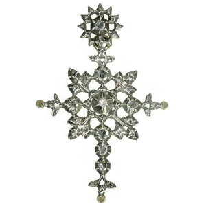 Antique Victorian cross with rose cut diamonds