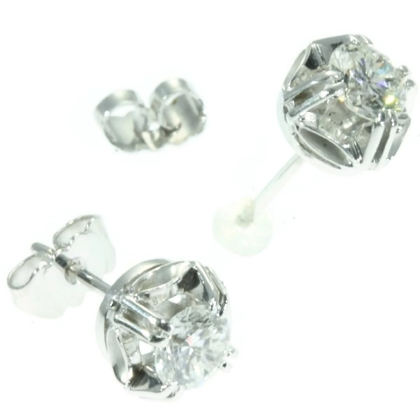 Estate diamond ear studs