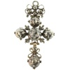 Antique cross pendant knot diamonds French regional Normandy