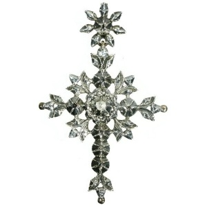 Antique Flemish Victorian rose cut diamond cross
