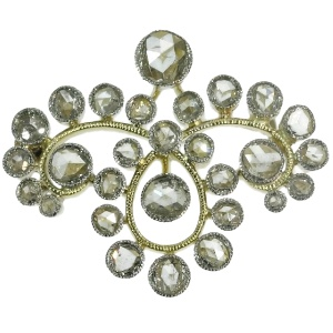 Estate rose cut diamond brooch