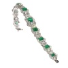 Magnificent vintage cocktail bracelet with 16 crt brilliant and 7 crt of Colombian emeralds