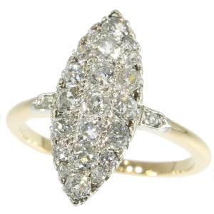 Belle Epoque old mine brilliant cut diamonds engagement ring
