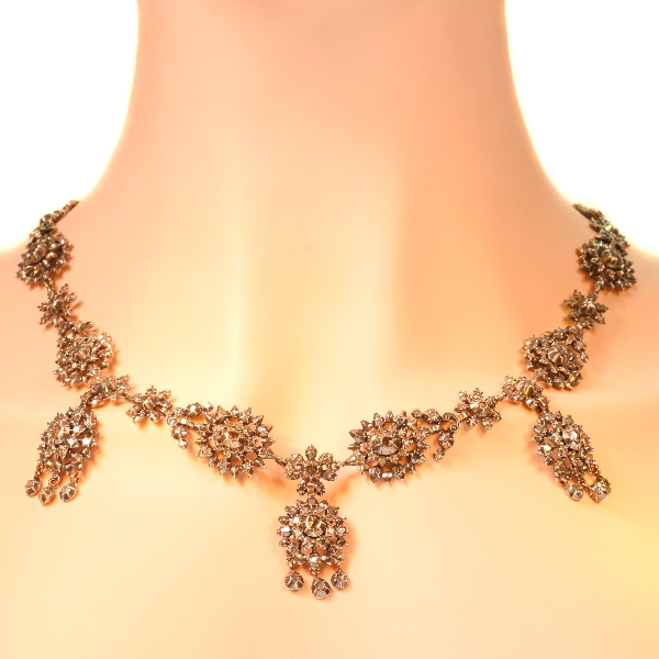 Antique Victorian diamond necklace
