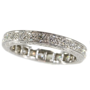 Platinum Fifties Art Deco style diamond eternity band