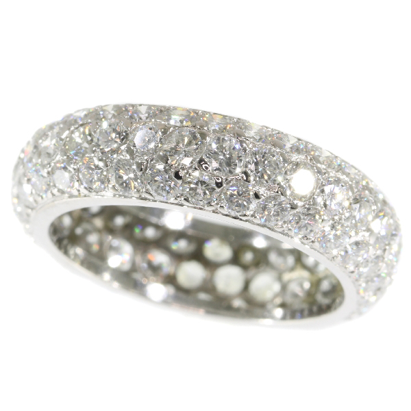 Vintage eternity band with over 5 crts of brilliant cut diamonds (90 stones!)