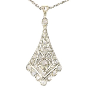 Vintage Art Deco platinum diamond pendant
