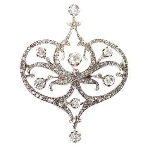 Vintage Belle Epoque diamond brooch