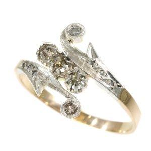 Vintage Victorian antique ring with diamonds
