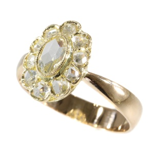Vintage late Victorian rose cut diamond ring