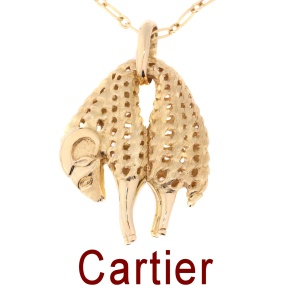 CARTIER Golden Fleece Ram 18k Yellow Gold Pendant Vintage Seventies
