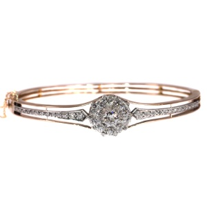 Antique Dutch Victorian diamond bangle