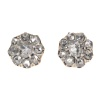 Antique Victorian earstuds with rose cut diamonds 18K gold