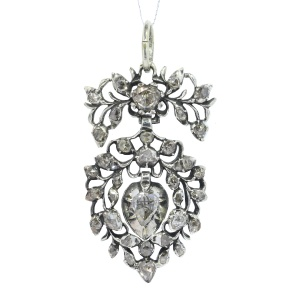 Antique Flemish diamond heart pendant circa 1700