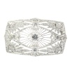 Vintage Art Deco diamond brooch set with 5.33 crt total diamond weight