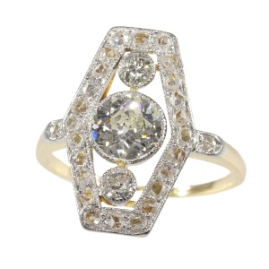 Vintage diamond engagement ring from the Belle Epoque Era