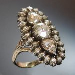 click here to view our entire collection of jewelry / jewellery with rose cut diamonds.